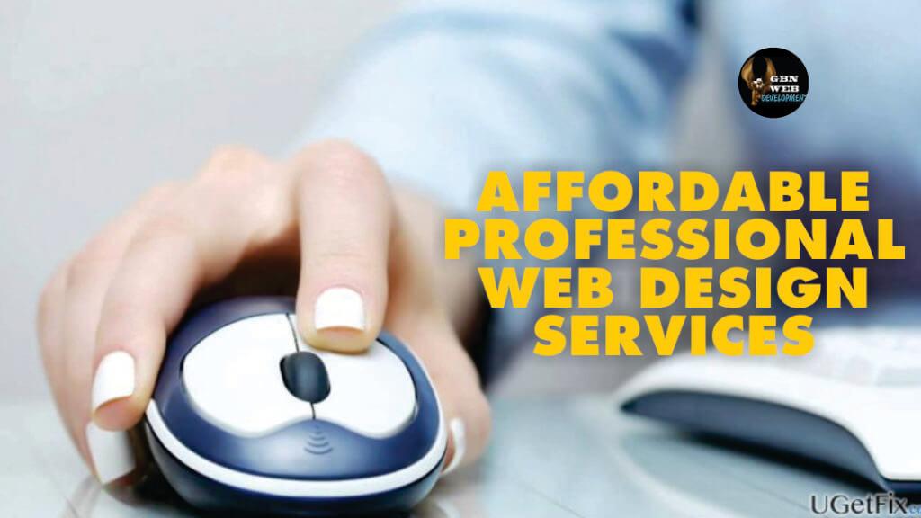Affordable professional web design
